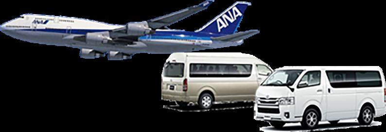イメージ:バスと飛行機